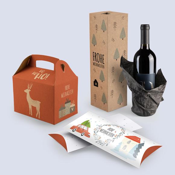 Originelle Weihnachtsverpackungen mit Design