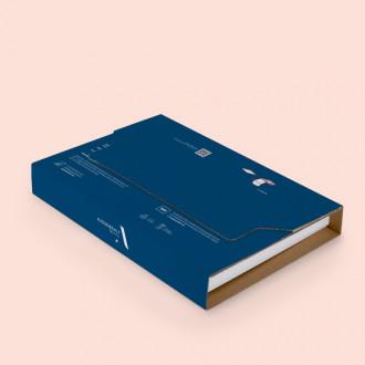 Bedruckbare Buchverpackung mit variabler Packhöhe