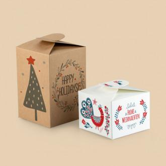 Schleifenverpackung als weihnachtliche Geschenkverpackung