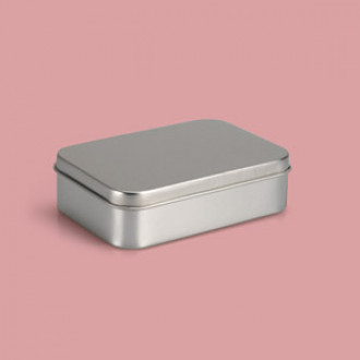 Seifendose Metall - 10,7 x 7,3 x 2,8 cm