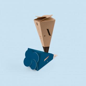 Pyramiden Verpackung bedrucken lassen