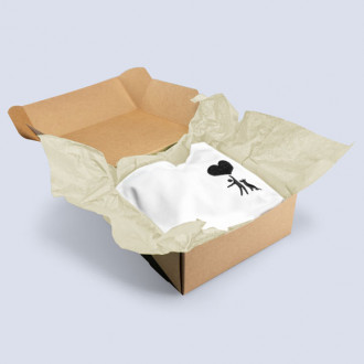 Einschlagpapier in Creme