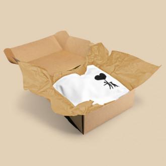 Braunes Seidenpapier