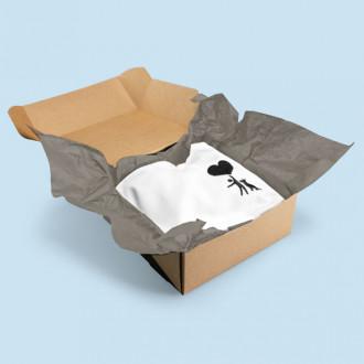 Gefärbtes Seidenpapier zum Einpacken