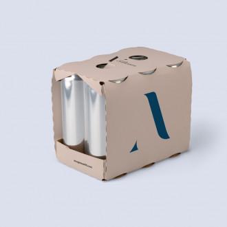 Bedruckbare Sixpack Verpackung für Dosen gestalten