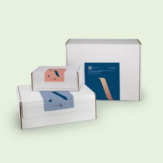 Versandverpackung inklusive personalisiertem Etikett