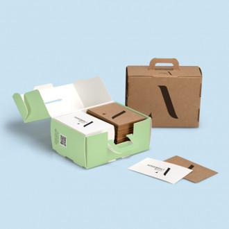Individuell bedruckbarer Visitenkartenkoffer