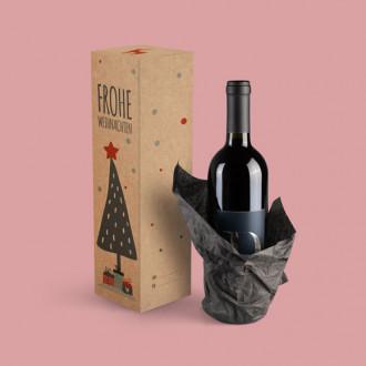Weihnachtsverpackung für Flaschen