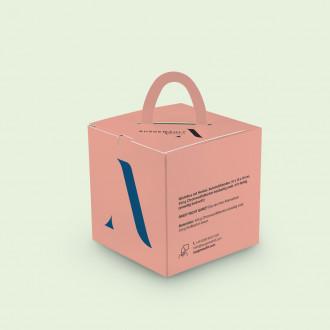 Würfelbox mit Henkel
