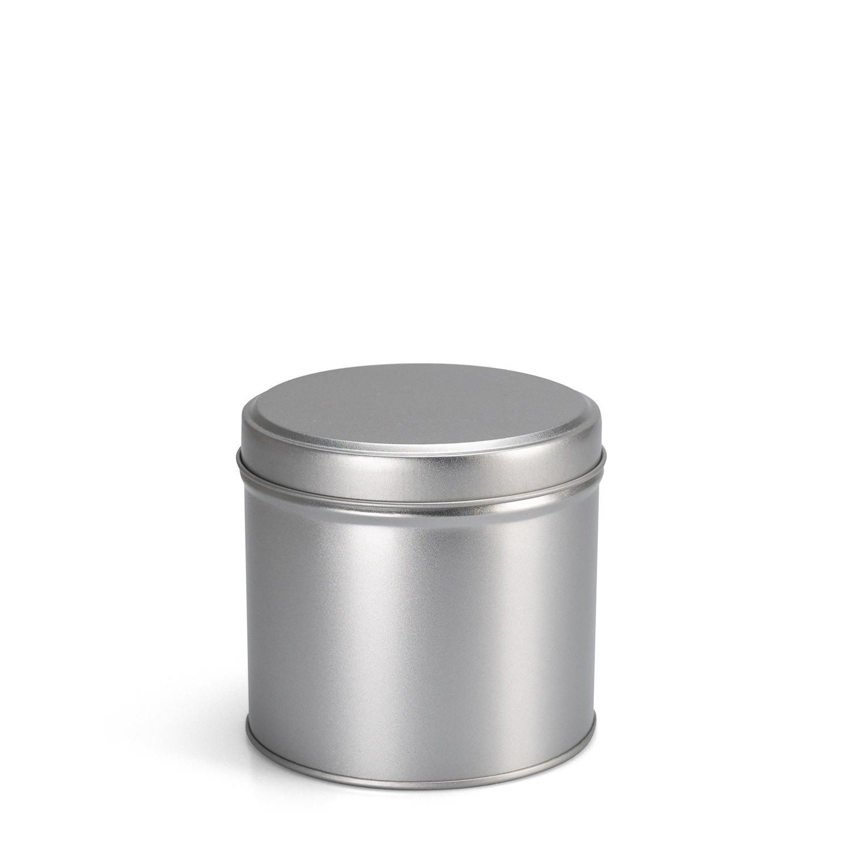 Blechdose rund mit Stülpdeckel - 10,7 x 10 cm