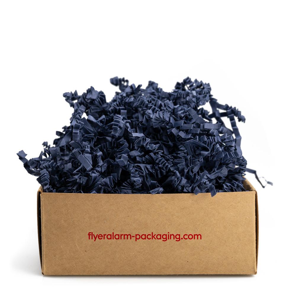 Papierwolle Blau