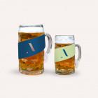Banderole für Bierkrüge mit individueller Werbung bedruckbar