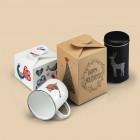 Geschenkverpackung im weihnachtlichen Design