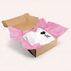 Rosa Seidenpapier zum Einschlagen