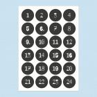 Zahlen für Adventskalender