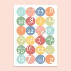 Adventskalender mit Zahlen Stickern gestalten