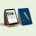 Plastikfreier Tablet Halter individuell bedrucken